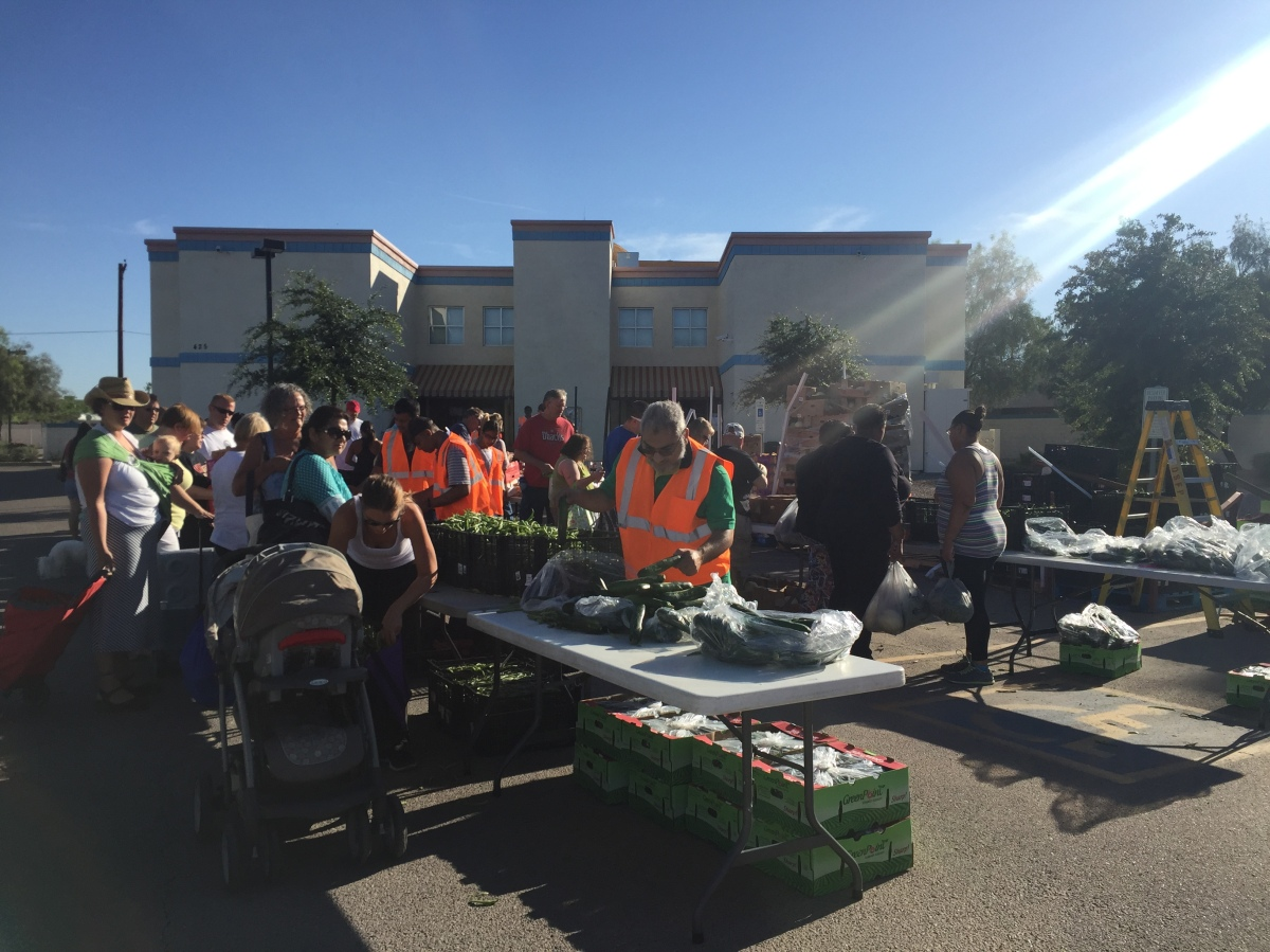 Produce distribution helps families for just $10